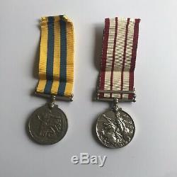 Royal NavyNaval General Service, George VI 2nd type, ClaspMalaya, Korea Medal