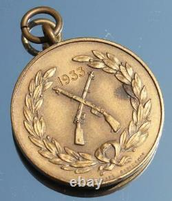 Royal Navy Hms Hood Quality Cast Bronze Rifles Competition Medal 1933