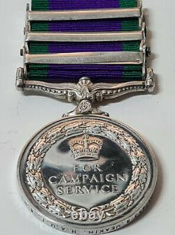 Royal Navy Post Ww2 British General Service Medal Northern Ireland Borneo Malaya