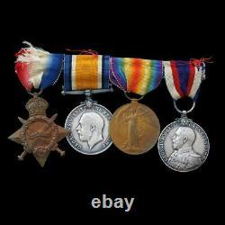 Royal Navy & Royal Fleet Reserve WW1 Trio & Long Service Medal Group. Lifesaving