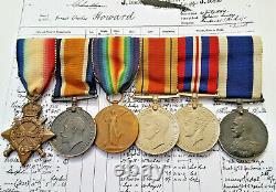Royal Navy Ww1 & Ww2 Medal Group Dardanelles Bombardment Hms Vengeance Howard
