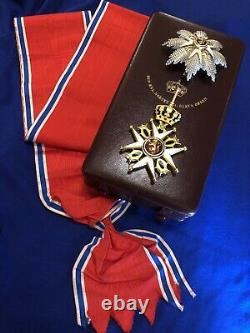 Royal Norwegian Order of ST OLAV GRAND CROSS Gold Saint Olaf Norway Medal
