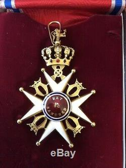 Royal Norwegian Order of ST OLAV GRAND CROSS in Gold Saint Olaf Norway medal