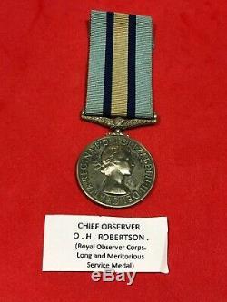 Royal Observer Corps Medal 1950