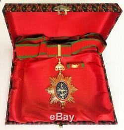 Royal Order of Cambodia Commander Medal Medallion Honor Neck Ribbon Set CM01