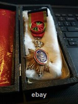 Royal Order of Cambodia-Officer Medal in Case -SEE STORE FRENCH MEDALS WW1