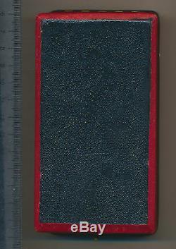 Royal Romania Order Romanian Crown MEDAL COMMANDER Carol I Leather BOX etui 1877