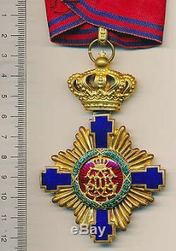 Royal STAR ROMANIA Neck BADGE Order OFFICER Romanian MEDAL COMMANDER 1878 CAROL