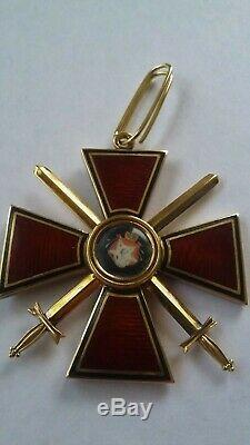 Russian Imperial Antique badge medal Order St. Vladimir Original Gold 3 degree