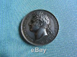 SILVER Medal 1821 by Pistrucci CORONATION OF GEORGE IV Official ROYAL MINT Iss