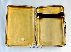 Silver NW Frontier Tribute Cigar Case/Tirah/Punjab Medal. Royal Field Artillery