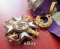 Spain Early 19th Century Royal Order Of Queen Maria Luisa in Gold medal badge