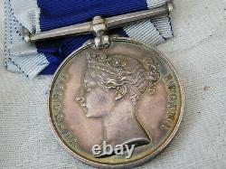 Superb Victorian Wide Suspension Royal Navy Marines Lsgc 21 Years Medal Kelly