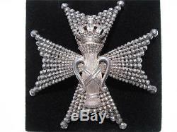 Sweden Royal Order Of Vasa Grand Commander Breast Star Solid Silver Medal Badge