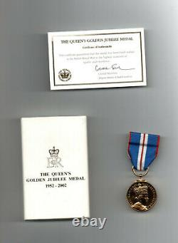 The Queen's Golden Jubilee Medal. 2002. Original Royal Mint Issue Medal With Box