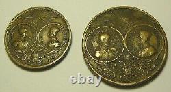 Token+Medal Alexander II and Rurik Imperial Russia 1862 Bronze