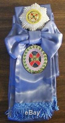 UK Britain Ireland Royal Order Saint Patrick St. Medal Parade Sash Orden Award P