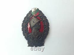 VINTAGE BULGARIAN MEDAL BADGE ORDER ENAMEL ROYAL BORIS III INFANTRY 2rd CLASS