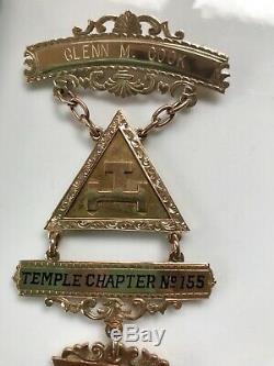 VTG. 1962 14K Yellow Gold Masonic Royal Arch Past High Priest Medal. Ohio Masons