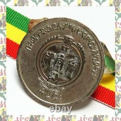 Very rare Ethiopian Haile Selassie Imperial Harar Military Academy Medal Silver