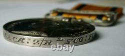 Victoria Zulu 1879 clasp war medal George Slack Royal Scots Fusiliers of Chester