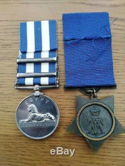 Victorian Egypt Medal 1882-89 Pair to Royal Marine Light Infantry