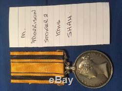 Victorian HMS SHAH South Africa Zulu Wars Medal William Morrison Royal Navy