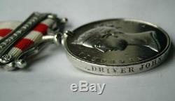 Victorian Indian Mutiny Central India medal Dvr J Meade Royal Artillery Fr Essex