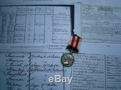 Victorian Indian Mutiny medal Pte Stanley 8th Rgt & Royal Bengal Fuslr fr Dublin