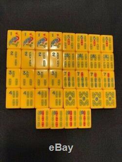 Vintage Royal Gold Medal Crisloid Mah Jongg Set 161 Tiles Bakelite