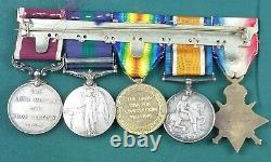 WW1 British Medal Set Of Five Royal Army Medical Corps