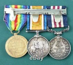 WW1 British Military Medal And Pair 15th Bn. Royal Scots