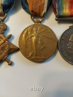 WW1 British Trio MONS 1914 Star Victory War Medal Royal Army Medical Corps RAMC