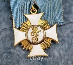 WW1 German Imperial Friedrich Order Gold 1st Class Knigh cross pin medal enamel