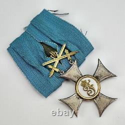 WW1 German Imperial Friedrich Order Gold 2nd Class Knight cross pin medal enamel
