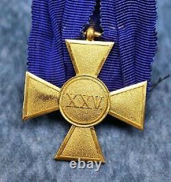WW1 German Imperial Prussian 25 year service iron cross badge pin medal enamel