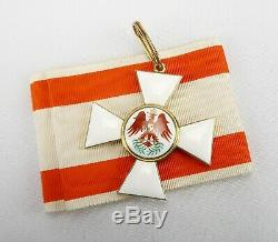 WW1 German Imperial cased order of the red eagle 2nd class neck badge pin medal
