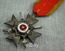 WW1 German Imperial lippe honor cross 4th class swords badge pin medal WW2 vet