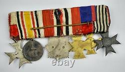 WW1 Imperial German Bavaria cross Order merit award ribbon medal bar pin enamel