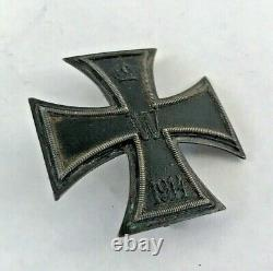 WW1 Imperial German Iron Cross Soldier Medal Badge Dated 1914 World War 1