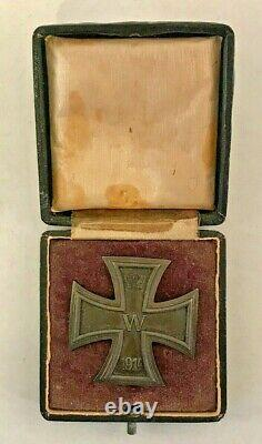 WW1 Imperial German Iron Cross Soldier Medal Badge Dated 1914 World War 1 withBox