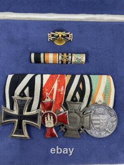 WW1 Imperial German Medal Group in Case Hanseatic Iron Cross