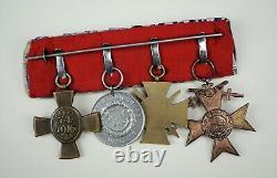 WW1 Imperial German pin Bavarian iron cross Order merit award ribbon medal bar