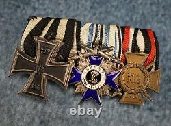 WW1 Imperial German pin iron cross badge medal WW2 enamel ribbon bar war uniform