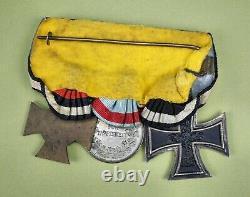 WW1 Imperial German pin iron cross badge medal uniform WW2 war parade ribbon bar
