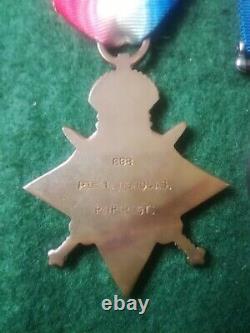 WW1 Medal Trio 888 Pte T Nicholas Royal Irish Regiment
