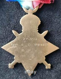 WW1 Military Medal & 1914-15 Star Trio Royal Field Artillery