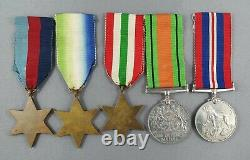 WW2 Atlantic/Italy Star Medal Group to Royal Navy with Named Box of Issue