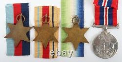 WW2 British Royal Navy HMS Galatea Killed in Action Medal Group