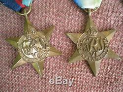 WW2 Royal Canadian Air Force Memorial Atlantic Medal Grouping to JOHNSTON 200sqd
